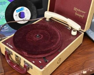 "Vintage Webcor Record Player (""the midge"")"