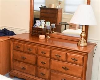 Lowboy Chest of Drawers with Mirror