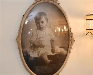 Baby Portrait Photo / Photograph in Oval Frame