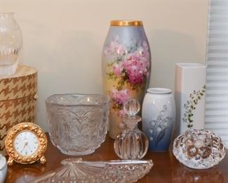 Hand Painted Porcelain Vase, Glass & Pottery Vases, Candle Holders, Perfume Bottle, Vanity Items, Etc.