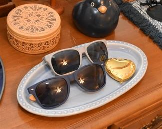 Sunglasses, Pottery Dish, Compact, Trinket Box