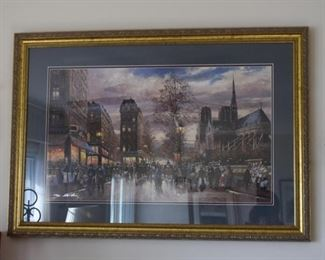 Framed Limited Edition Paris Print, Signed & Numbered