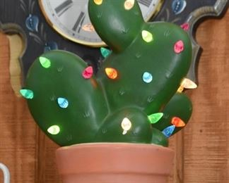 Ceramic Light Up Christmas Cactus