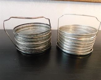 Two Sterling Coasters Sets Lot #: 22