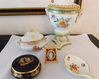 Group Of Porcelain: Dresden, Limoges, Faberge.  Lot #: 27