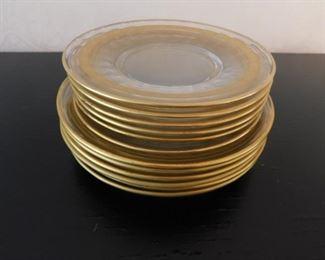 Gold Rimmed Plates Lot #: 38