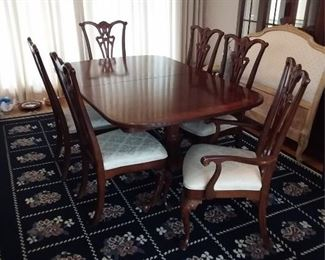 Banded Dining Table And Chairs Lot #: 40