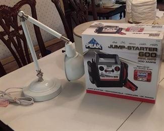 Peak Jump Starter And Adjustable Lamp Lot #: 50