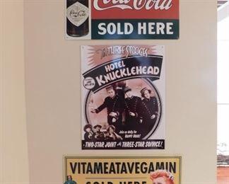 Three Pieces Of Tin Advertising Lot #: 71