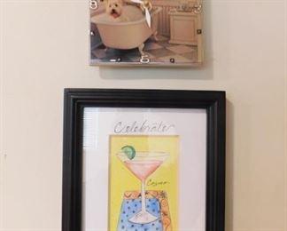 Artwork And Clock Lot #: 70