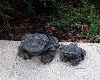 2 Frog Sculptures Lot #: 78