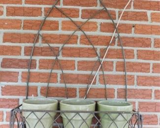 Hanging Planter, Wall Mounted Planter, Two Wind Chimes And Hose Reel Holder Lot #: 77