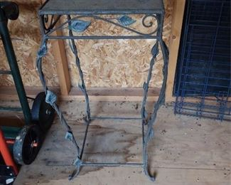 Wrought Iron Plant Stand Lot #: 82