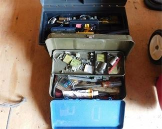 Two Tool Boxes And A Wrench Set Lot #: 85