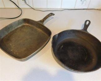 Two Cast Iron Pans Lot #: 100