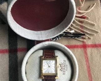 Hermes Heur H Hour 18K yellow gold watch HH1.585