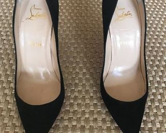 Laubutin Black Patent leather heels Sz 8