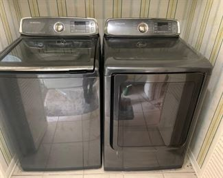 Samsung Topload Washer and Gas Dryer, 2 Yrs Old