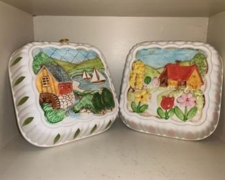 Vintage Ceramic Jello Molds in 3D. All Four Seasons!