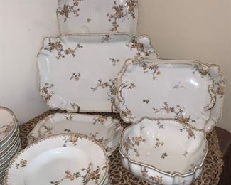 Beautiful Set of Rare Haviland  & Limoges China made in France
