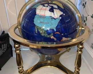 Stunning Replogle Jewel Gemstone Globe on Stand
