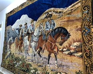 Huge Wall Tapestry of Western Scene