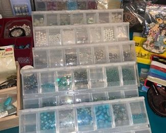 Tons of Beads!!! Make Earrings...Bracelets. you name it!
