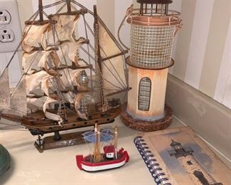 Nautical Items....Ship, Lighthouse