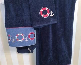 Nautical Theme Bath Towels and Decor