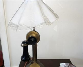 Unique Old Phone lamp