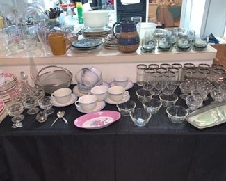 Assortment of Dishes, Platters and More