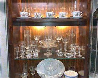 Glass and More Glass in Illuminated Curio Display Cabinet