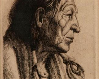 5: Henry C. Balink Pencil-Signed Etching, Chief Paccaneh