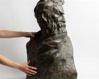 6: Robert Merrell Gage Large Bronze Bust, John Brown #5/9