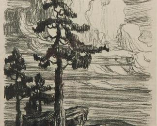 7: Birger Sandzen 'Colorado Pines' Signed Lithograph