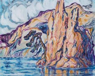11: Original Birger Sandzen Watercolor, Moab Utah