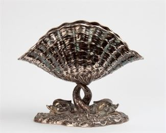 13: Genazzi for Stupell Shell & Dolphin Bowl, 800 Silver