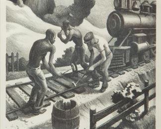 20: Thomas Hart Benton 'Ten Pound Hammer' Signed Lithograph