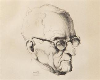 22: Thomas Hart Benton 'Mr. President' Signed Lithograph
