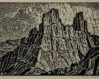 31: Birger Sandzen 'The Granite Castle' Signed Woodcut