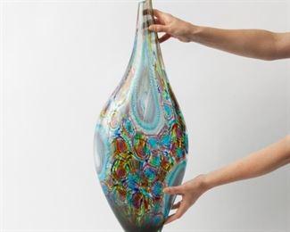 39: Afro Celotto Tall Murano Art Glass Vase