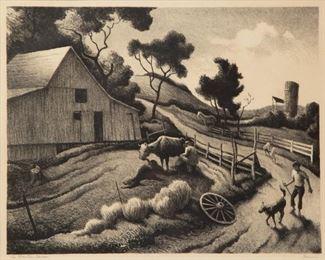 44: Thomas Hart Benton 'The Benton Farm' Signed Lithograph