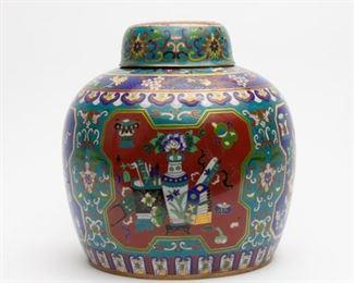 55: Chinese Cloisonne Ginger Jar