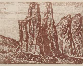 59: Birger Sandzen 'In the Garden of the Gods' Lithograph