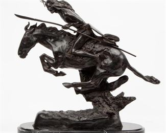 66: Frederic Remington Reproduction Bronze The Cheyenne