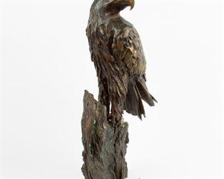 68: Cast Bronze Eagle Sculpture, 1976