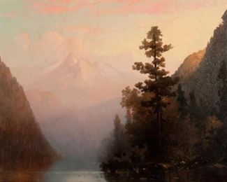 69: George Ernest Colby Oil on Canvas, Mountain Landscape