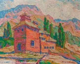 73: Original Birger Sandzen Oil, 'The Old Mill' (1929)