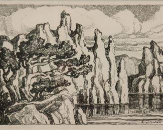 75: Birger Sandzen 'Colorado River' Signed Lithograph