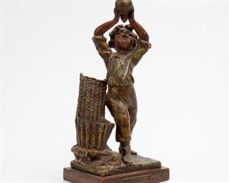 88: Henri Honore Ple Sculpture 'Bon Vin Doux'